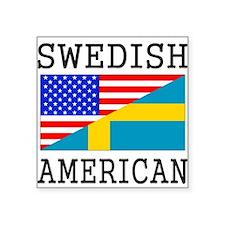 Swedish American Flag Sticker