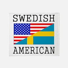 Swedish American Flag Throw Blanket