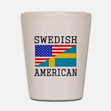 Swedish American Flag Shot Glass
