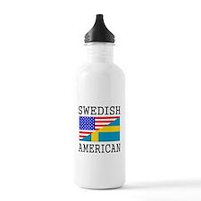 Swedish American Flag Water Bottle