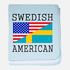 Swedish American Flag baby blanket