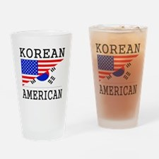 Korean American Flag Drinking Glass
