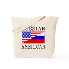 Russian American Flag Tote Bag