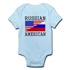 Russian American Flag Body Suit