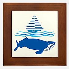 Whale and Jonah Framed Tile