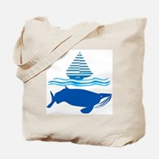 Whale and Jonah Tote Bag