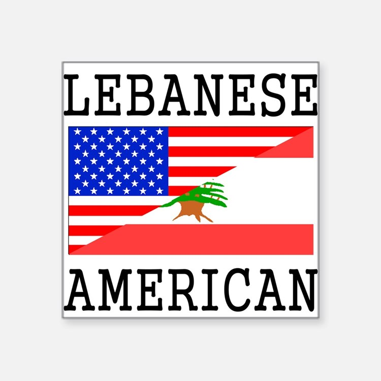 Lebanese American Flag Sticker