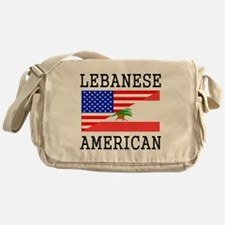 Lebanese American Flag Messenger Bag
