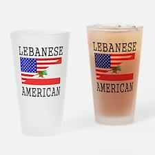 Lebanese American Flag Drinking Glass