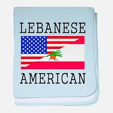 Lebanese American Flag baby blanket