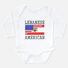 Lebanese American Flag Body Suit