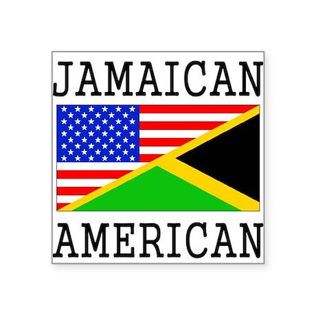 Jamaican American Flag Sticker By Halfamerican