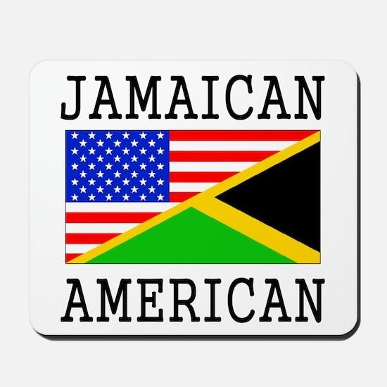 Jamaican American Flag Mousepad