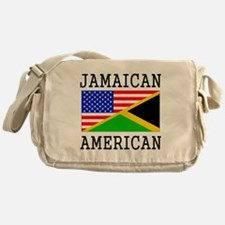 Jamaican American Flag Messenger Bag