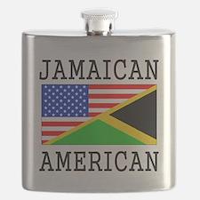 Jamaican American Flag Flask