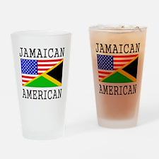 Jamaican American Flag Drinking Glass