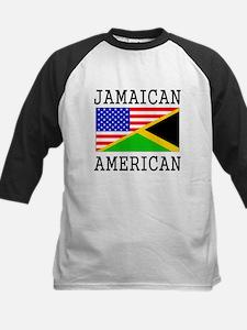 Jamaican American Flag Baseball Jersey