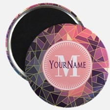 Colorful Mosaic Pattern Personalized Magnet