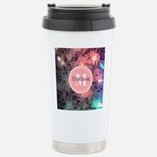 Colorful Mosaic Pattern Stainless Steel Travel Mug