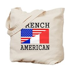 French American Flag Tote Bag