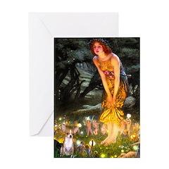 Fairies & Chihuahua Greeting Card