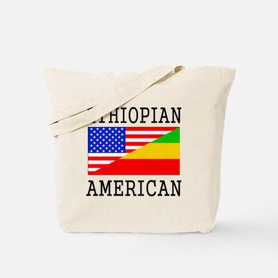 Ethiopian American Flag Tote Bag