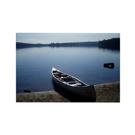 Scenic Canoe Rectangle Magnet