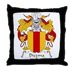 Diezma Family Crest Throw Pillow