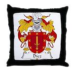 Diez Family Crest Throw Pillow