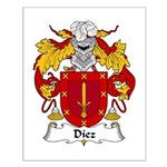 Diez Family Crest Small Poster