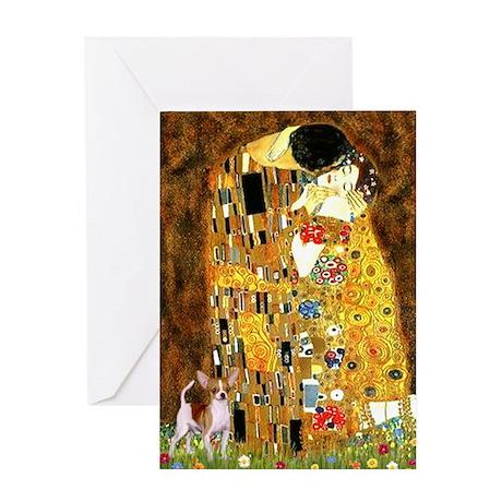 The Kiss & Chihuahua Greeting Card