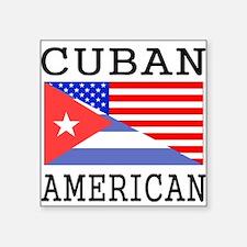 Cuban American Flag Sticker