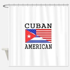 Cuban American Flag Shower Curtain