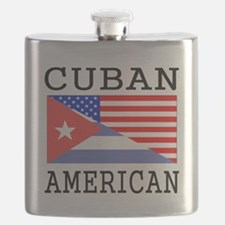 Cuban American Flag Flask
