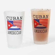 Cuban American Flag Drinking Glass