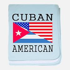 Cuban American Flag baby blanket