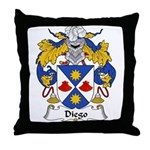 Diego Family Crest Throw Pillow