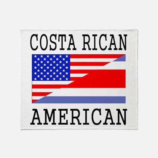 Costa Rican American Flag Throw Blanket