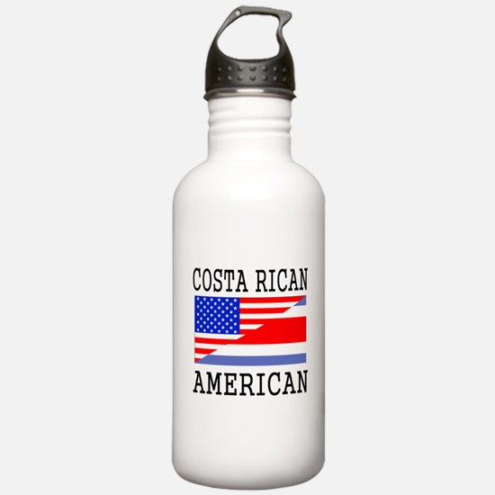Costa Rican American Flag Water Bottle