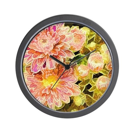 Floral Pink Wall Clock