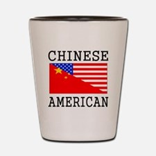 Chinese American Flag Shot Glass