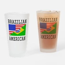 Brazilian American Flag Drinking Glass