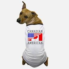 Canadian American Flag Dog T-Shirt