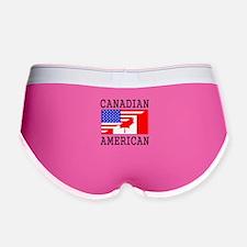 Canadian American Flag Women's Boy Brief