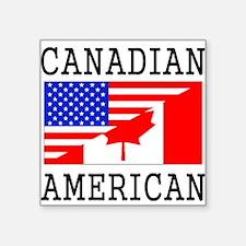 Canadian American Flag Sticker