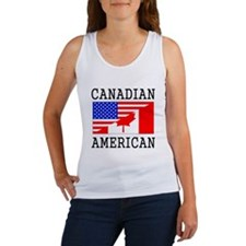 Canadian American Flag Tank Top