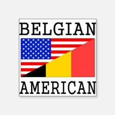 Belgian American Flag Sticker