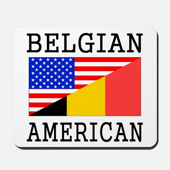 Belgian American Flag Mousepad