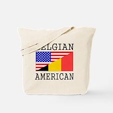 Belgian American Flag Tote Bag