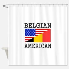 Belgian American Flag Shower Curtain